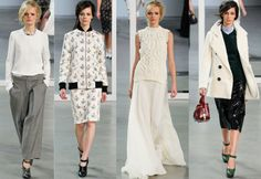 Derek Lam. Always amazing. Kind of loving the all floral look & wishing I could pull off the al white one. #NYFW