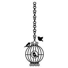 Allodi Adesivos Decorativos - Adesivo de Parede - Gaiola e Pássaros - R$55