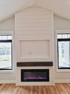 Most recent Photo Brick Fireplace with tv above Concepts Clean white shiplap linear fireplace detail with TV shadow box. Tv Above Fireplace, Linear Fireplace, Brick Fireplace, Fireplace Ideas, White Shiplap, Shadow Box, Concept, Fireplaces, Detail