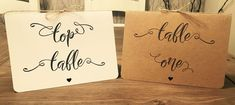 1 x RUSTIC WEDDING TABLE NUMBERS / NAMES PERSONALISED HANDMADE