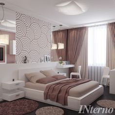 Ideas, Formulas and Shortcuts for Cozy White and Purple Bedroom Decor - decoruntold Girl Bedroom Designs, Home Room Design, Master Bedroom Design, Interior Design Living Room, Purple Bedroom Decor, Home Decor Bedroom, Modern Bedroom, Bedroom Ideas, Vintage Bedroom Styles