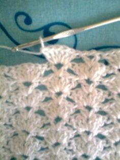 Baby blanket in crochet ! Friends here, I& let you step by step this blanket, l . - Baby blanket in crochet ! Friends here, I& let you step by step this blanket, l … # - Point Granny Au Crochet, Baby Afghan Crochet, Baby Afghans, Crochet Simple, Free Crochet, Crochet Stitches Patterns, Stitch Patterns, Baby Afghan Patterns, Diy Crafts Crochet