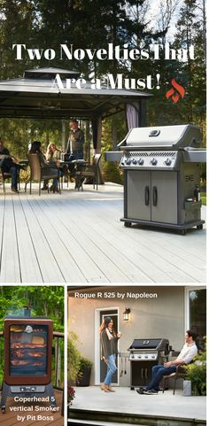 Discover a new Napoleon Gas Grill and a new Pit Boss pellet smoker. Smoker Designs, Grills, Napoleon, Boss, Fire, Outdoor Decor
