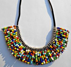 Tribal Maasai Inpired Necklace by Styledentity on Etsy, $25.00