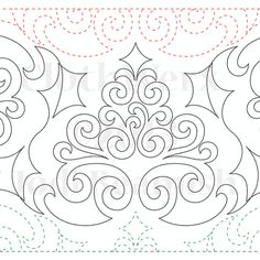 """Cool Yule - Paper - 11"""" - Quilts Complete - Continuous Line Quilting Patterns"""