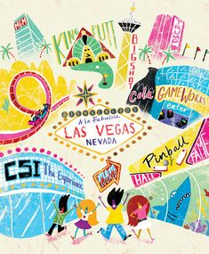 Travel and map illustrations