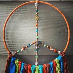 Mushroom Decor, Mushroom Art, Teal Orange, Blue Green, Hippy Gifts, Woodland Decor, Dream Catcher Boho, Hamsa Hand, Czech Glass Beads
