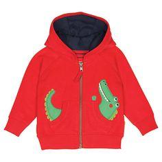 Buy Frugi Baby Bertie Crocodile Hoody, Multi Online at johnlewis.com