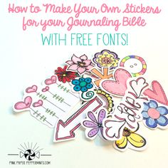 This is a Free Workshop Series on Art Journaling Your Faith. Lesson 8, is about using dingbat fonts in your art journal and a fun bible study worksheet. Plus 2 free printables perfect for Bible Journaling and Illustrated Faith!
