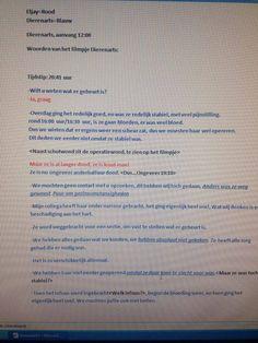 schriftelijk gesprek van het dieren ziekenhuis https://www.youtube.com/watch?v=2hEQR8WscqM&list=UUlUMRqGlIkUazS6e8ndKMdA
