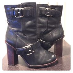 Theory leather boots Theory leather boots short above the ankle Theory Shoes Heeled Boots