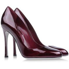 Sergio Rossi Pumps (425 CAD) ❤ liked on Polyvore featuring shoes, pumps, heels, garnet, sergio rossi, leather sole shoes, leather shoes, heels & pumps y genuine leather shoes