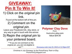 GIVEAWAY - Pin It To Win It: To Win This Item from Peelirohini.etsy.com - follow the instructions: Click on ORIGINAL pin, comment leaving a way to contact you, REPIN the ORIGINAL Pin! Contest ends 7/23/12 @ 11:59pm EST. Winner announced 7/24/12.