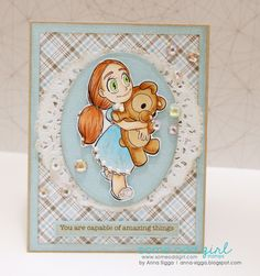 Inspiration | Amazing You http://www.someoddgirlblog.com/2017/01/inspiration-amazing-you/ Tia Bear Digi Stamp  #SomeOddGirl #DigiStamp #CopicMarkers #Cardmaking #AdultColoring #Crafting #Papercrafts