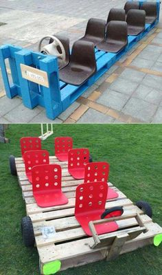 17 Cute Upcycled Pallet Projects for Kids Outdoor Fun - Outdoor kids play area - Outdoor Spa, Outdoor Fun For Kids, Backyard For Kids, Diy For Kids, Outdoor Pallet, Diy Outdoor Toys, Garden Pallet, Diy Pallet Projects, Projects For Kids