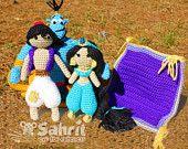 PATTERN Bundle Instant Download Genie Prince and Princess of the Desert PLUS Lamp Crochet Doll Amigurumi Disney