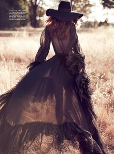 Sheer prairie dress. Wo. Love the idea of a (semi)sheer long belted dress