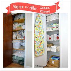 Linen Closet Organization - small home / BIG IDEAS series