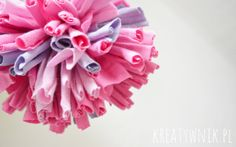 How to Make Pom Poms from Old T-Shirts?
