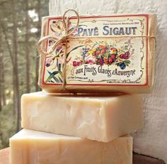 French boutique gourmet soap by folkyart on Etsy, $7.95 I can vouch for the quality!!!