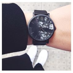 Larson & Jennings chain metal black, yes please I Covet Thee, Larsson And Jennings Watch, Wear Watch, All Black Everything, Black Edition, Fashion Watches, Fashion Details, Omega Watch, What To Wear
