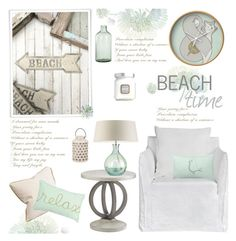 """""""Soft Hues And Tranquil Settings"""" by truthjc ❤ liked on Polyvore featuring interior, interiors, interior design, home, home decor, interior decorating, Laura Mercier, Imperfect Design and Heathfield & Co."""