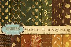 Thanksgiving Digital Paper Patterns