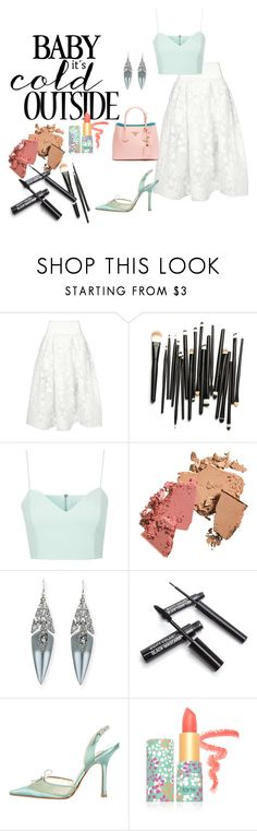 """Untitled #175"" by hordalinich on Polyvore featuring Maticevski, Topshop, Prada, Alexis Bittar, Jimmy Choo and tarte"