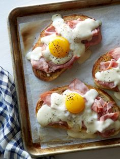 Croque Madame Toast