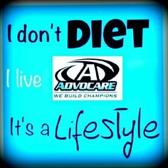 Living the Advocare Life... it's not a diet, it's a change of lifestyle.  Are you ready to find out what Advocare can do for you? Whether it's weightloss, sports performance or just getting your wellness back on track, I can help.  Inbox me and ask me about our 24 Day Challenge, your jumpstart to weightloss.