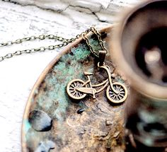 Bicycle necklace - Hipster jewelry - Free Worldwide Shipping - Gift for her under 15 USD. $14.00, via Etsy.