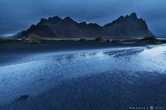 Stokksnes in blue - Bad weather and strong wind was the welcome in Stokksnes area but the beauty of that place won on the adversity ;)