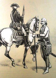 From left: Royal shooter from 1768., Royal hayduk 1771. Fig. B. Gembarzewski.