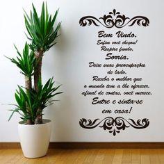 Adesivo de parede Frase Seja bem vindo - Fran Adesivos - Fran Adesivos Hair Clinic, Nail Designer, Spa Day, Beauty Nails, Essie, Office Decor, Banner, Lettering, How To Make