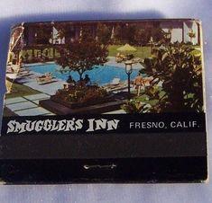 Smugglers Inn Fresno Match Book Motor Hotel Caribbean Pool Food Grog MidCentury