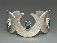 Silver & Turquoise Bracelet by Sam Greatwater LaFountain (Chippewa/Diné)