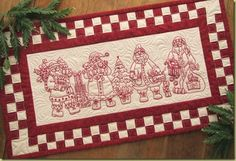 redwork christmas table runner | ... of other goodies to make a great decoration for your holiday table