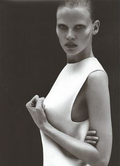 Lara Stone photographed by Mert & Marcus for Calvin Klein Collection S/S 2011
