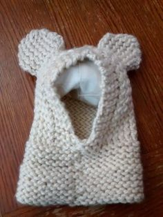 Loomed ears hoodie by Carla Wills