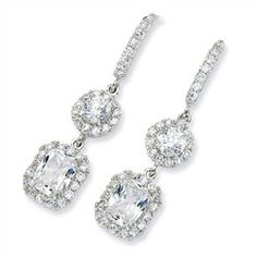 Sterling Silver CZ French Wire Earrings $73.00