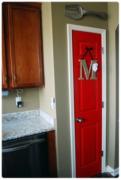 painted pantry door.