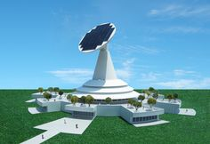 Michael Jantzen - Project - The Solar Science Center is a conceptual design proposal for a large solar powered structure dedicated to the science of the sun and to all of the technology used to harness its energy for the good of all of humanity.