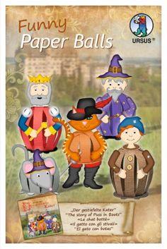 Funny Paper Balls Le chat botté 3d Paper, Paper Toys, Diy And Crafts, Paper Crafts, Paper Balls, Class Decoration, Paper Strips, Baby Kind, Art Classroom