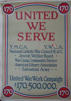 Greetings poster, United War Work Campaign-Photo Greetings Card made in the USA Ww1 Posters, Political Posters, American Library Association, Campaign Posters, Jewish History, World Religions, Online Library, American War, Fundraising