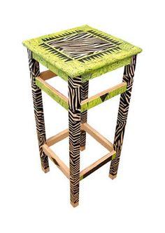 A Decopatch funky zebra stool.