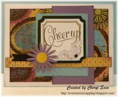 card by Cheryl Even using CTMH Laughing Lola paper