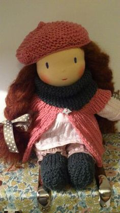 Beautiful waldorf doll! One of the girls MUST want this, right?
