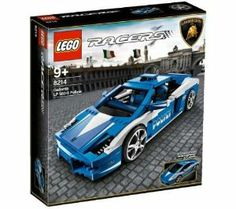 LEGO Racers Set #8214 Police Lamborghini Gallardo by LEGO. $109.99. LEGO Racers Lamborghini Policia 8214. Ages: 9+. Pieces: 801. Build the original Lamborghini Gallardo LP560-4 Polizia! This authentic model is packed with all the details of the original, from the replica wheels rims to the chrome exhaust pipes. Open the front to reveal the on-board medical equipment and fire extinguisher. Look inside to see all the police equipment or open the engine cover to check ou...
