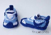 zapatitos Nike de crochet Zapatillas deportivas Nike para bebes de ganchillo.