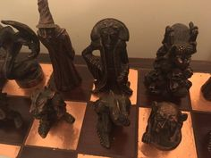 War of the Rings Pewter Chess set - VERY RARE  crafted by Graeme Anthony